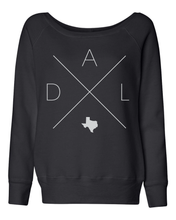 Load image into Gallery viewer, Dallas Home Off Shoulder Sweatshirt - Home Sweet Pillow Co