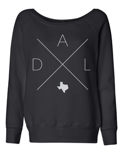 Dallas Home Off Shoulder Sweatshirt - Home Sweet Pillow Co