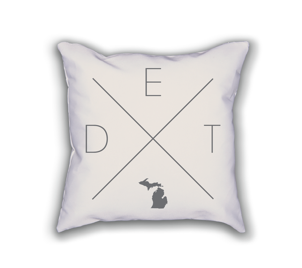 Detroit Home Pillow - Home Sweet Pillow Co