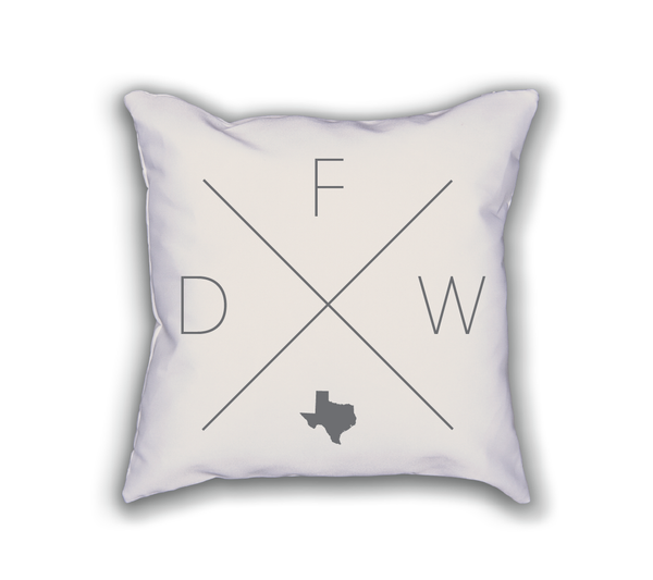 Dallas Fort Worth Home Pillow