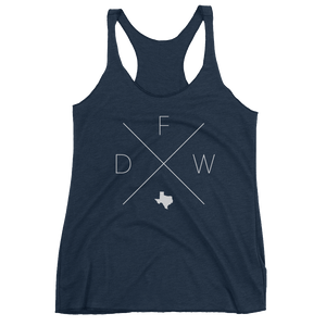 Dallas Fort Worth Racerback Tank - Home Sweet Pillow Co