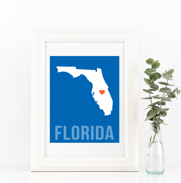 Florida Print - Home Sweet Pillow Co