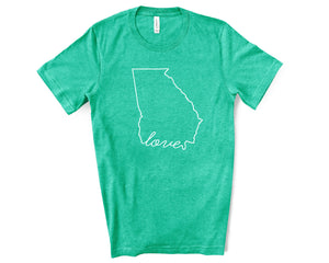 Georgia Love Shirt - Home Sweet Pillow Co