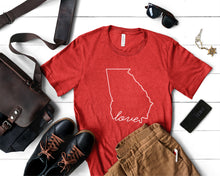 Load image into Gallery viewer, Georgia Love Shirt - Home Sweet Pillow Co