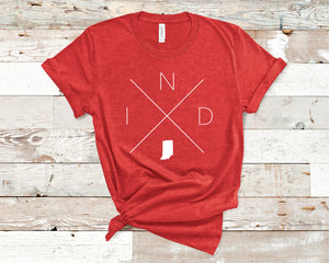 Indiana Home Tee - Home Sweet Pillow Co