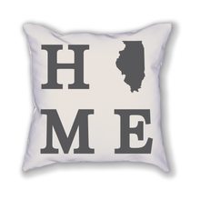 Load image into Gallery viewer, Illinois Home State Pillow - Home Sweet Pillow Co