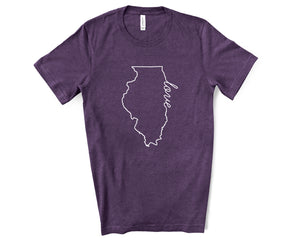 Illinois Love Shirt - Home Sweet Pillow Co