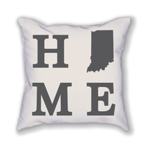 Load image into Gallery viewer, Indiana Home State Pillow - Home Sweet Pillow Co