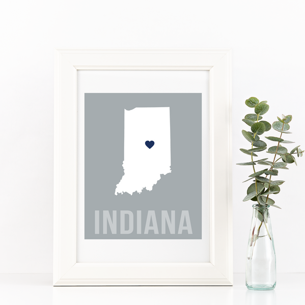 Indiana Print - Home Sweet Pillow Co