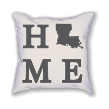 Load image into Gallery viewer, Louisiana Home State Pillow - Home Sweet Pillow Co