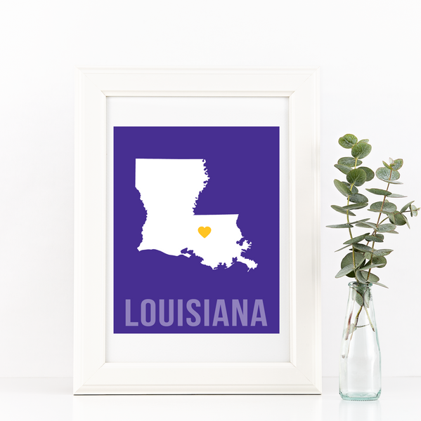 Louisiana Print - Home Sweet Pillow Co