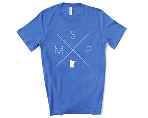 MSP – Minneapolis–Saint Paul International Airport Tee - Home Sweet Pillow Co
