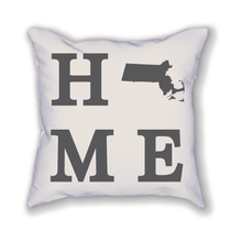 Load image into Gallery viewer, Massachusetts Home State Pillow - Home Sweet Pillow Co