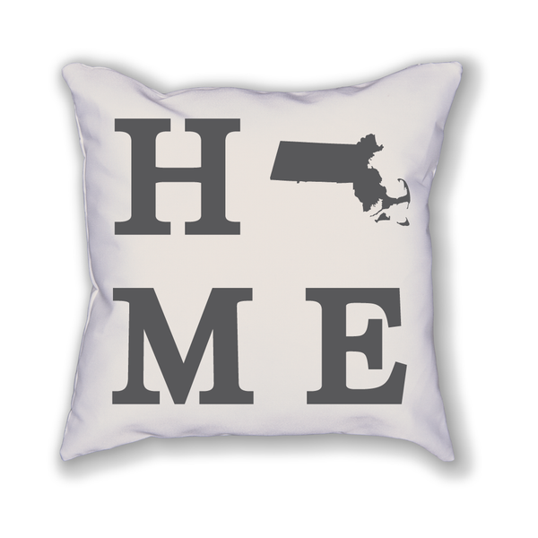 Massachusetts Home State Pillow - Home Sweet Pillow Co