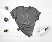 Load image into Gallery viewer, Michigan Love Shirt - Home Sweet Pillow Co