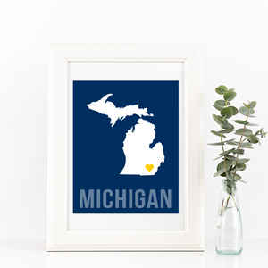 Michigan Print - Home Sweet Pillow Co