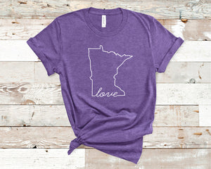 Minnesota Love Shirt - Home Sweet Pillow Co