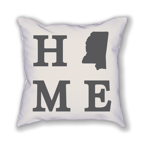 Mississippi Home State Pillow - Home Sweet Pillow Co