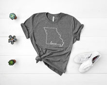 Load image into Gallery viewer, Missouri Love Shirt - Home Sweet Pillow Co