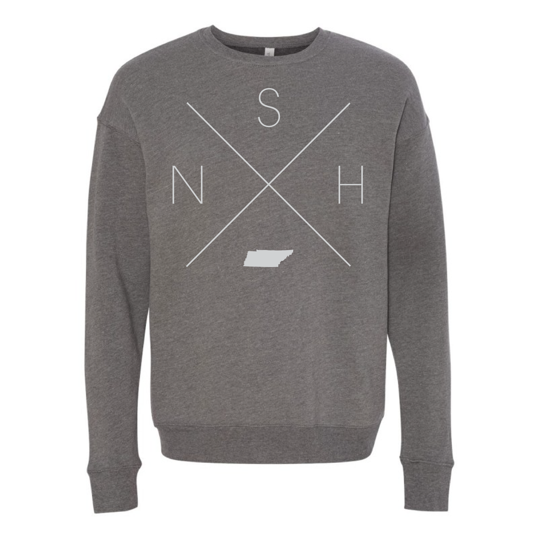 Nashville Home Crew Neck Sweatshirt - Home Sweet Pillow Co
