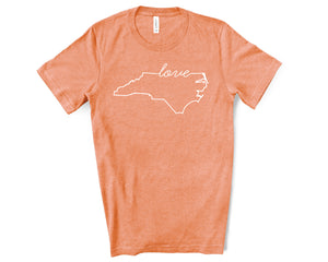 North Carolina Love Shirt - Home Sweet Pillow Co