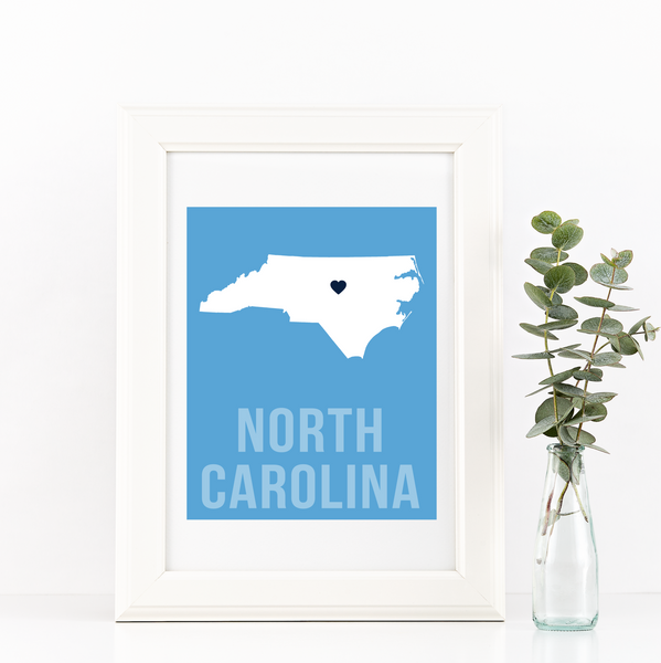 North Carolina Print - Home Sweet Pillow Co