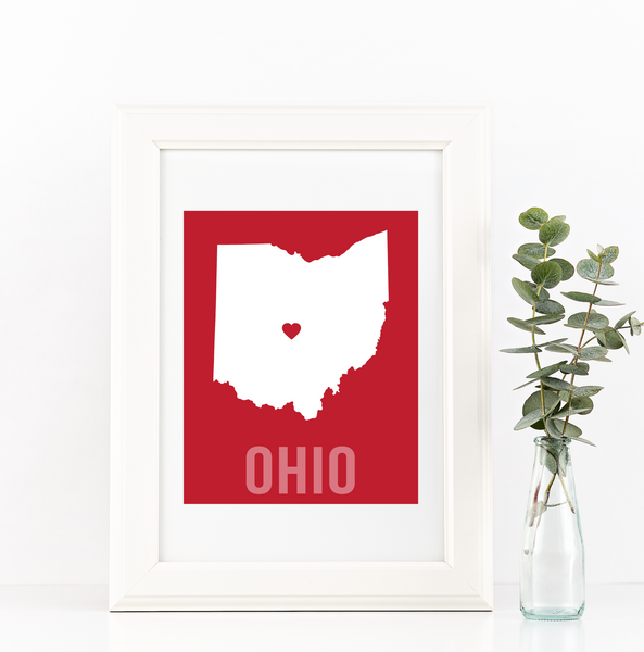 Ohio Print - Home Sweet Pillow Co