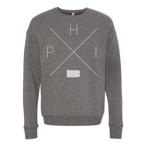 Philadelphia Home Crew Neck Sweatshirt - Home Sweet Pillow Co