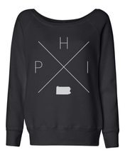 Load image into Gallery viewer, Philadelphia Home Off Shoulder Sweatshirt - Home Sweet Pillow Co