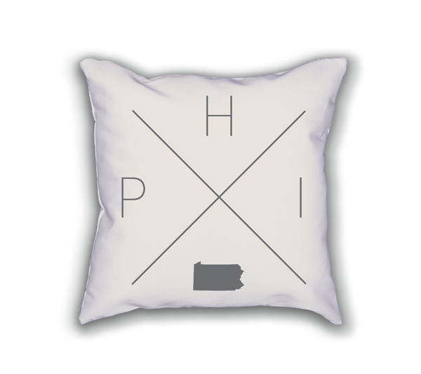Philadelphia Home Pillow - Home Sweet Pillow Co