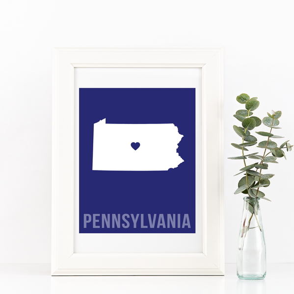 Pennsylvania Print - Home Sweet Pillow Co