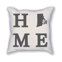 Load image into Gallery viewer, Rhode Island Home State Pillow - Home Sweet Pillow Co