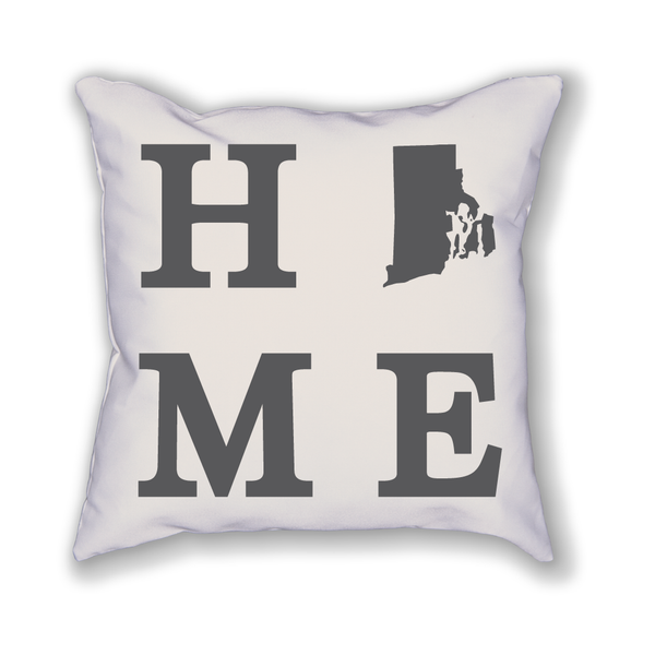 Rhode Island Home State Pillow - Home Sweet Pillow Co