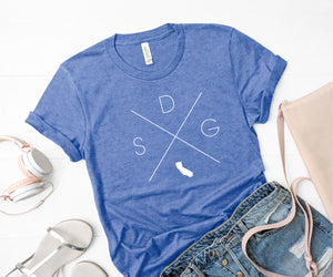 San Diego Home Tee - Home Sweet Pillow Co