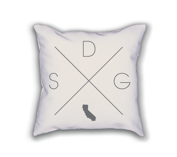 San Diego Home Pillow - Home Sweet Pillow Co