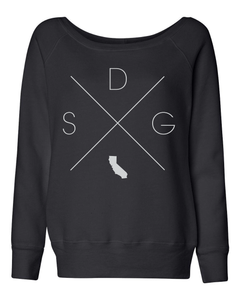 San Diego Home Off Shoulder Sweatshirt - Home Sweet Pillow Co