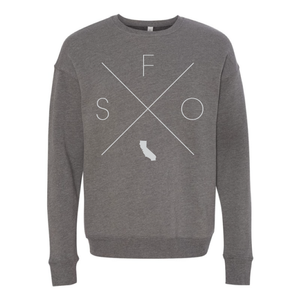 San Francisco Home Crew Neck Sweatshirt - Home Sweet Pillow Co