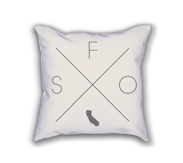 San Francisco Home Pillow - Home Sweet Pillow Co