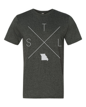 Load image into Gallery viewer, STL – St. Louis Lambert International Airport Tee - Home Sweet Pillow Co