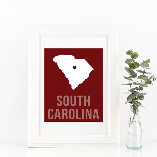 South Carolina Print - Home Sweet Pillow Co