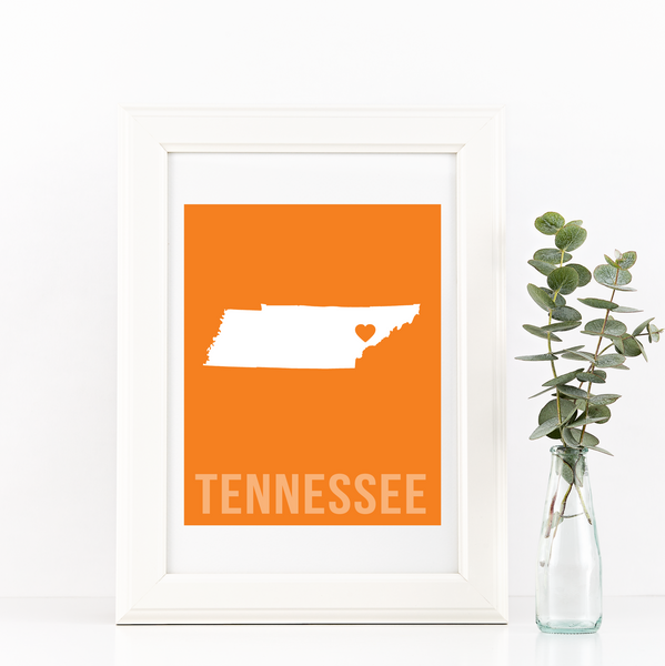 Tennessee Print - Home Sweet Pillow Co