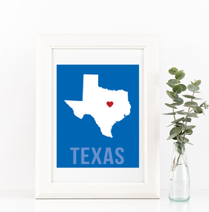 Texas Print - Home Sweet Pillow Co