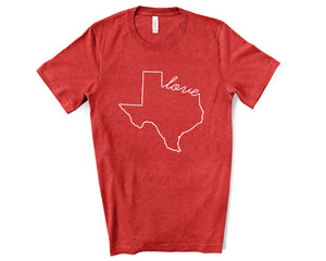 Texas Love Shirt - Home Sweet Pillow Co