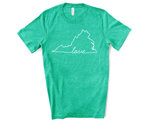 Virginia Love Shirt - Home Sweet Pillow Co