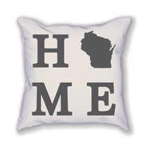 Load image into Gallery viewer, Wisconsin Home State Pillow - Home Sweet Pillow Co