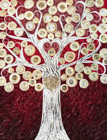 Be Still My Heart Tree 8x10 Mosaic Paper Set - Version #1