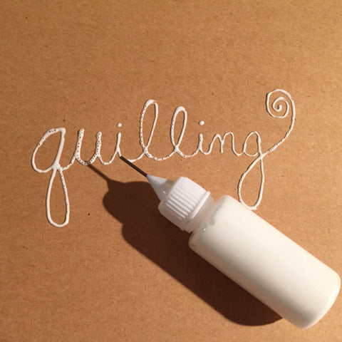 Quilling Glue .5 oz Needle Tip & 4 oz. Refill Bottles