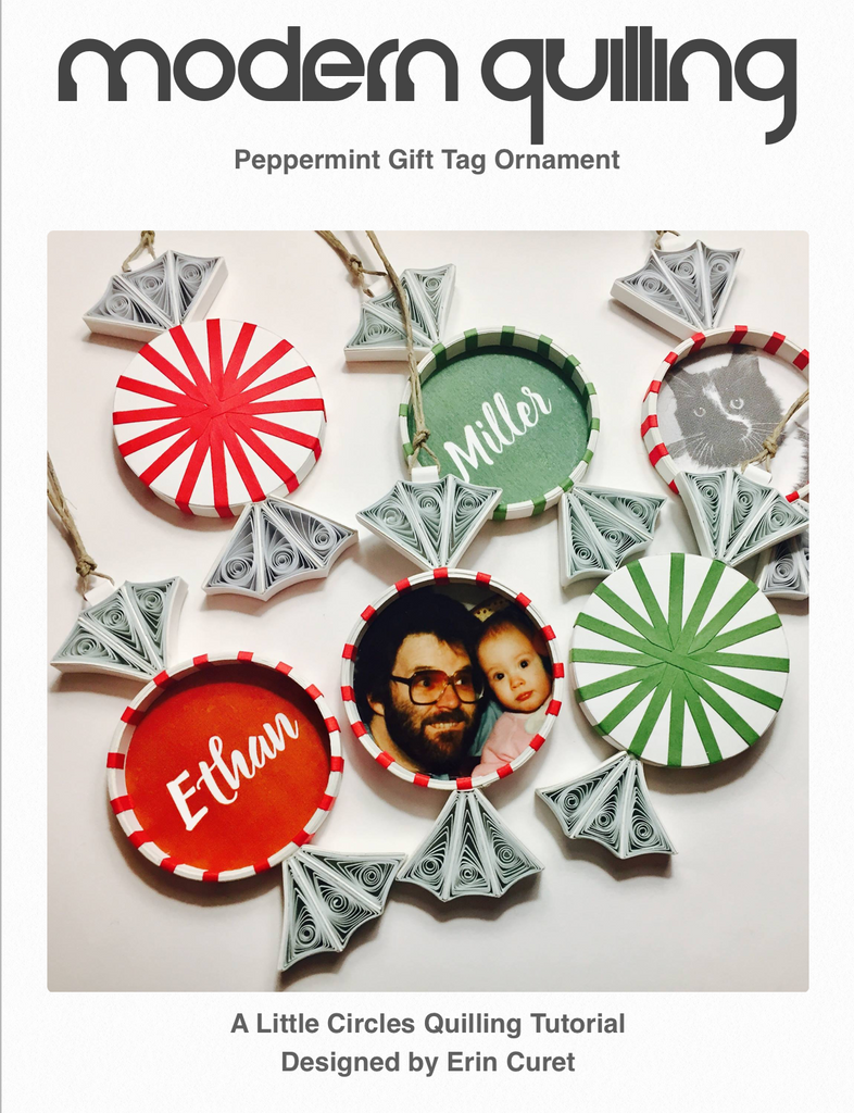 Peppermint Gift Tag Ornament Tutorial