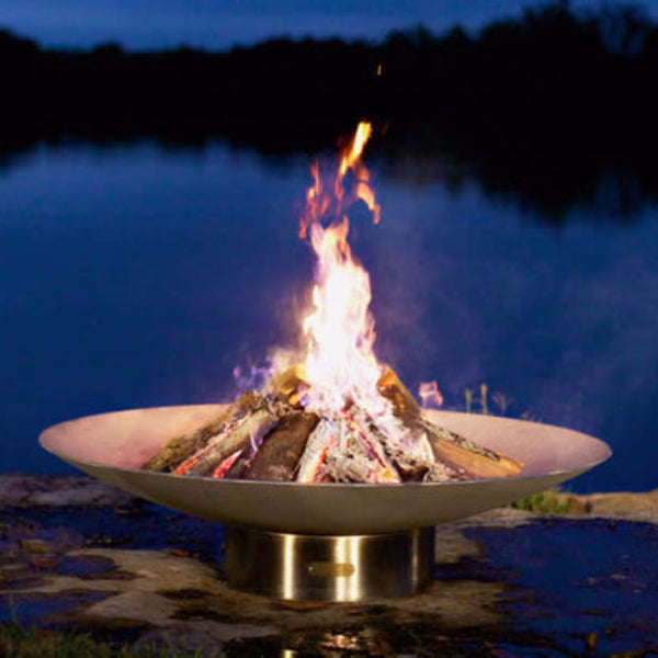 190251384247 BV58 Bella Vita Fire Pit Wood Burning Stainless Steel Fire Pit Art