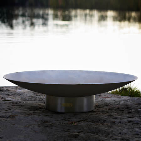 "BV70 Bella Vita 72"" Large Stainless Steel Fire Pit Art"